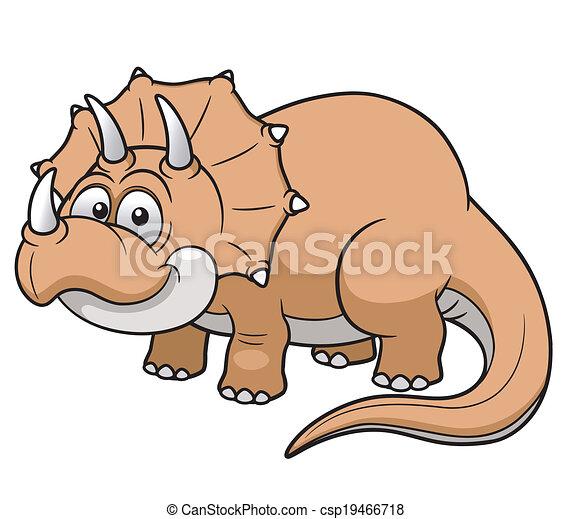 Cartoon dinosaur - csp19466718
