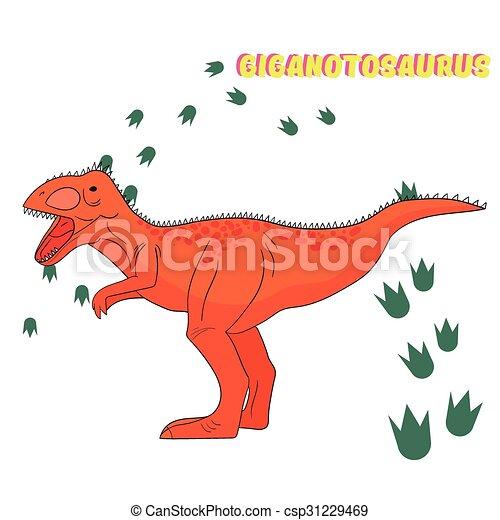Cartoon dinosaur vector illustration - csp31229469