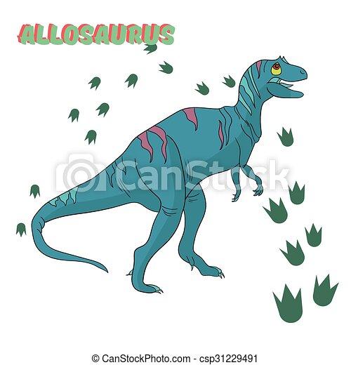 Cartoon dinosaur vector illustration - csp31229491