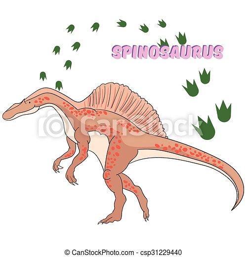 Cartoon dinosaur vector illustration - csp31229440