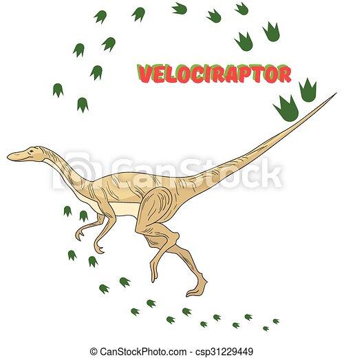 Cartoon dinosaur vector illustration - csp31229449