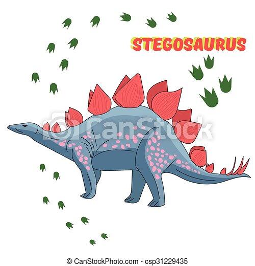 Cartoon dinosaur vector illustration - csp31229435