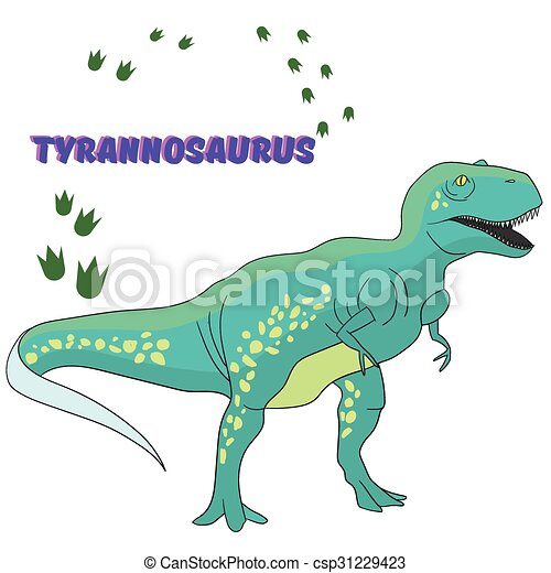 Cartoon dinosaur vector illustration - csp31229423