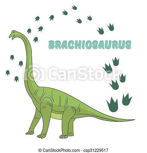 Cartoon dinosaur vector illustration - csp31229517