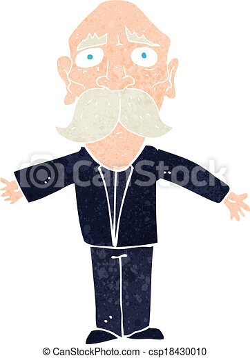 cartoon disapointed old man - csp18430010