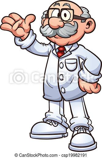 Cartoon doctor - csp19982191