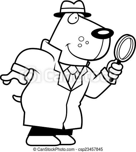 cartoon dog detective csp23457845