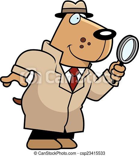 Cartoon Dog Detective - csp23415533