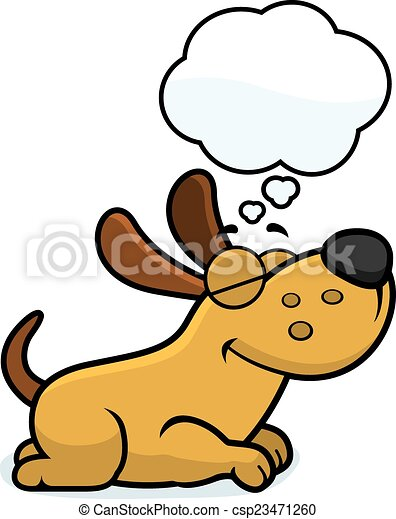 cartoon dog dreaming a cartoon illustration of a dog sleeping and rh canstockphoto com dreaming clipart black and white boy dreaming clipart