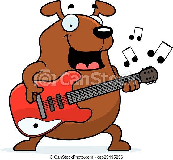 cartoon dog playing