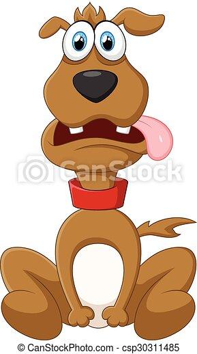 Cartoon dog posing - csp30311485