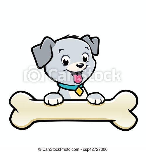 cartoon dog puppy bone vector illustration of a cute puppy rh canstockphoto com cartoon puppy images to draw cartoon puppy images to draw