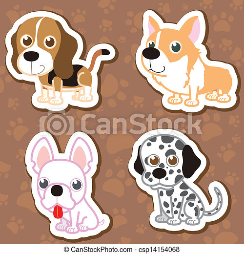 Cartoon dog sticker set csp14154068