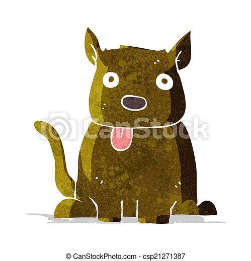 cartoon dog sticking out tongue - csp21271387