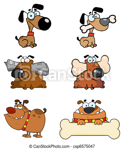 Cartoon Dogs  Collection  - csp6575047