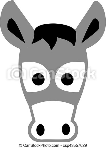Cartoon donkey head - csp43557029