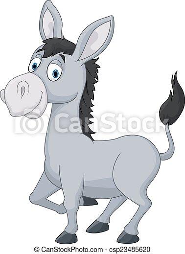 Cartoon donkey - csp23485620
