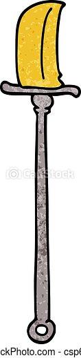 cartoon doodle bronze halberd - csp62230901