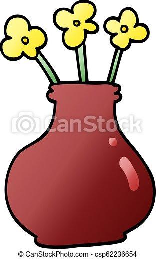 290 & cartoon doodle flower vase