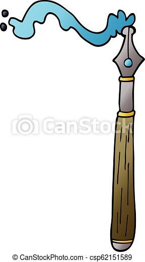 cartoon doodle ink pen - csp62151589