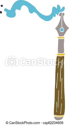 cartoon doodle ink pen - csp62234609