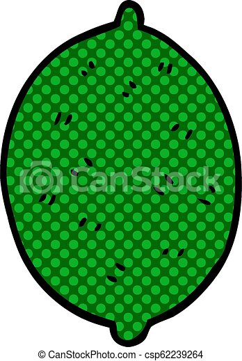 cartoon doodle lime fruit - csp62239264