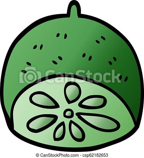 cartoon doodle lime fruit - csp62182653