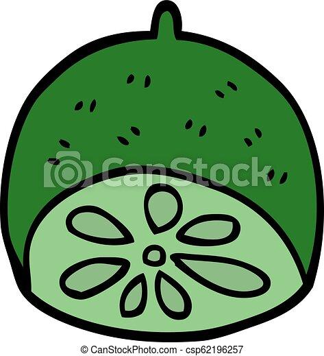 cartoon doodle lime fruit - csp62196257