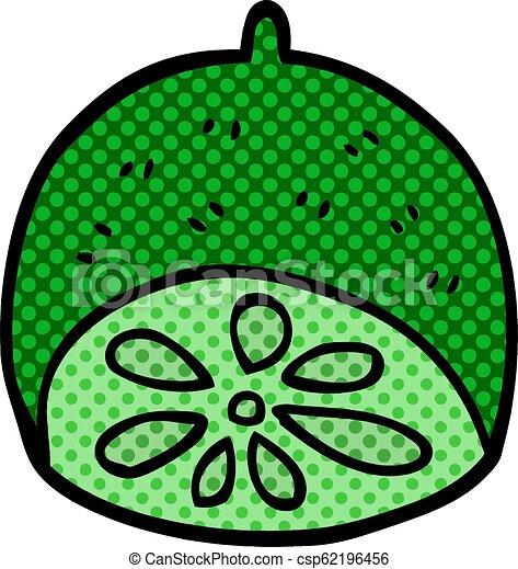 cartoon doodle lime fruit - csp62196456