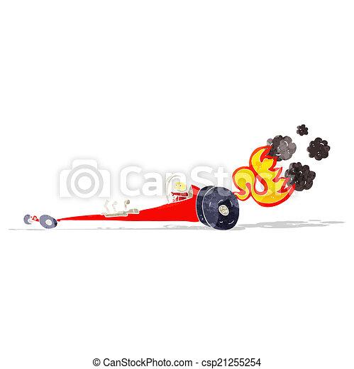 cartoon drag racer - csp21255254