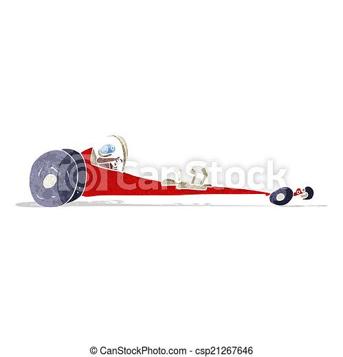 cartoon drag racer - csp21267646