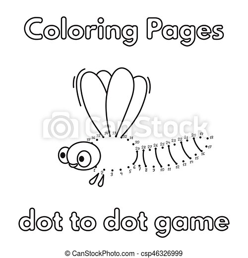 Cartoon Dragonfly Coloring Book
