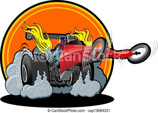 Cartoon dragster - csp13684331