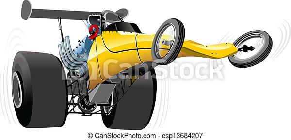 Cartoon dragster - csp13684207