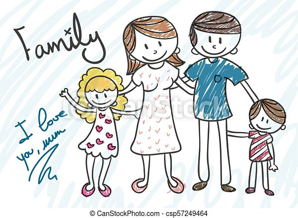 Family Clip Art To Draw