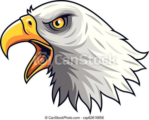 Cartoon Eagle head mascot - csp62616856