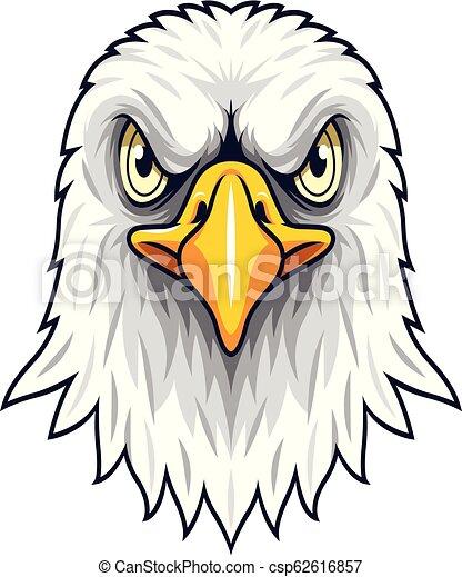 Cartoon Eagle head mascot - csp62616857