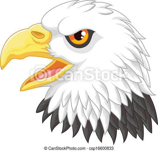 Cartoon Eagle head mascot - csp16600833