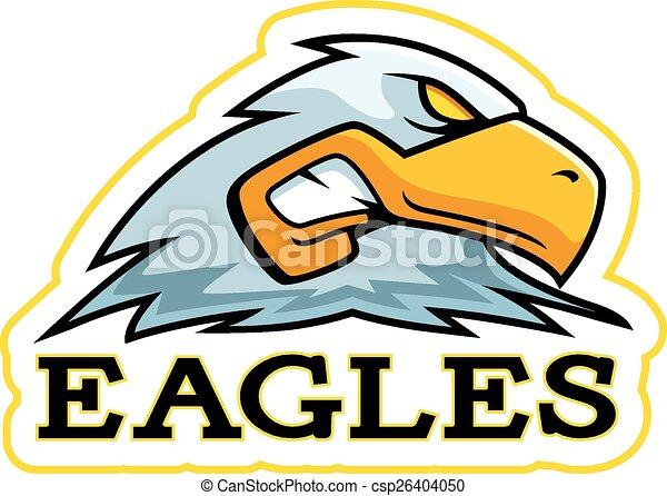 Cartoon Eagle Mascot - csp26404050