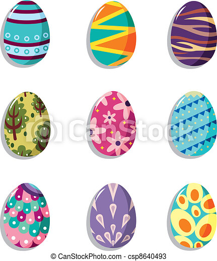Cartoon Easter Egg Icon Canstock