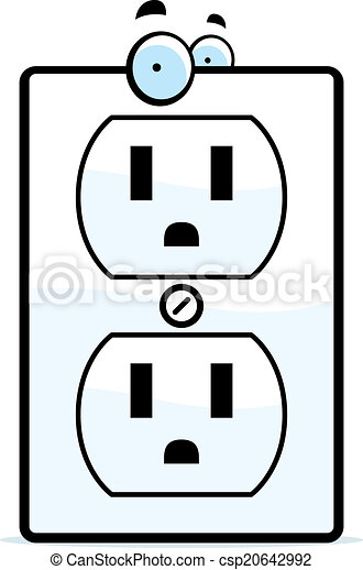 cartoon electrical outlet a cartoon electrical outlet smiling and rh canstockphoto com electrical outlet drawing autocad blocks funny electrical outlet drawing