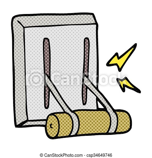 freehand drawn cartoon electrical switch eps vector search clip rh canstockphoto com electricity clipart electrical clip art images