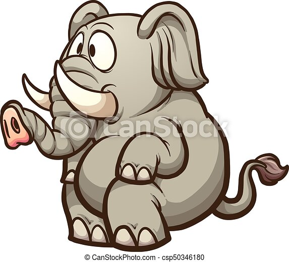 Cartoon elephant. Fat cartoon elephant sitting. vector clip art ... 214468fcc