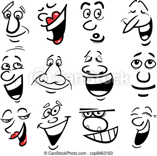 Cartoon emotions illustration - csp9463163