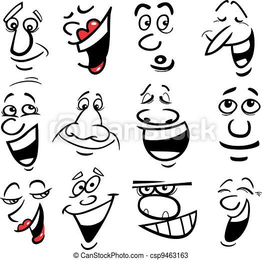 Cartoon emotions illustration - csp9463163