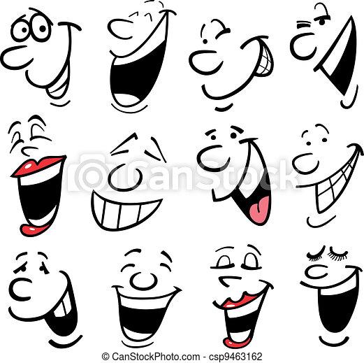 Cartoon emotions illustration - csp9463162