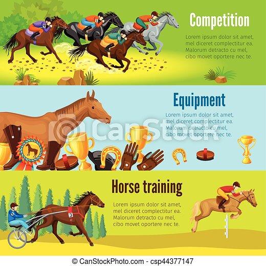 Cartoon Equestrian Horizontal Banners