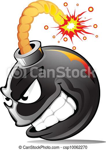 Cartoon evil bomb - csp10062270