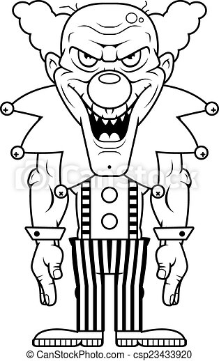 Cartoon Evil Clown - csp23433920