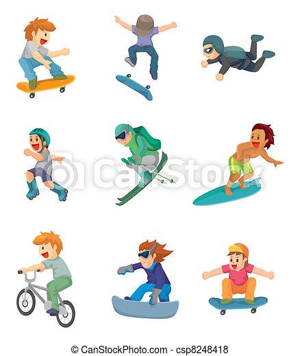 cartoon Extreme sport icon - csp8248418